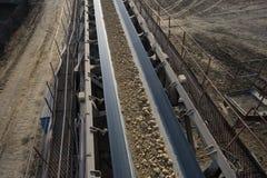 Línea del transporte de carbón imagen de archivo libre de regalías