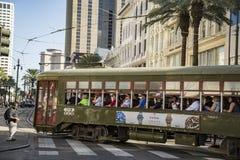 Línea del tranvía de New Orleans, Luisiana Imagen de archivo