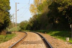 Línea del tren Imagen de archivo libre de regalías