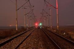 Línea del tren Imagenes de archivo