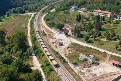 Línea del tren de alta velocidad Fotos de archivo