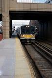 Línea del tren de cercanías Foto de archivo