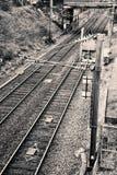 Línea del tren suburbano, Francia occidental Imagen de archivo libre de regalías
