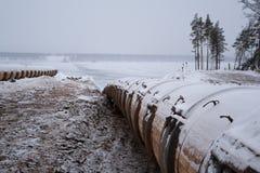 Línea del tubo de petróleo Fotos de archivo