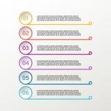 Línea del vector infographic círculo Diagramas, presentaciones y cartas del negocio Fondo Foto de archivo