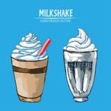 Línea detallada batido de leche del vector de Digitaces del arte ilustración del vector