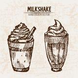 Línea detallada batido de leche de Digitaces del arte stock de ilustración