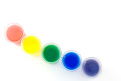 Línea diagonal de vidrio helado y de agua del color Foto de archivo