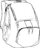Línea dibujada mano Art Backpack Skecth /eps Fotos de archivo libres de regalías
