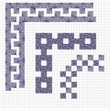 Línea dibujada mano elemento del sistema del vector y del diseño de la frontera bosquejo Fotografía de archivo libre de regalías