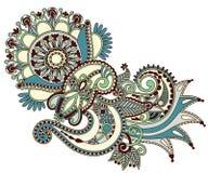 Línea diseño adornado de la flor del arte Foto de archivo libre de regalías
