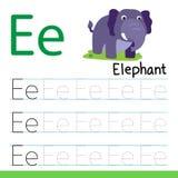 Línea diseño del dibujo del elefante del vector stock de ilustración