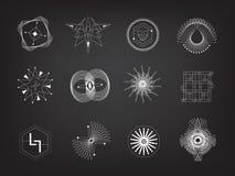 Línea diseño del vector eps10 de la geometría libre illustration