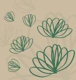 Línea diseño floral de Lotus Imagenes de archivo