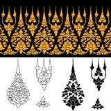 Línea diseño tailandés Imagen de archivo libre de regalías