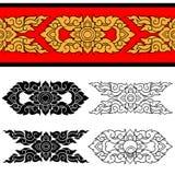 Línea diseño tailandés 025 ilustración del vector