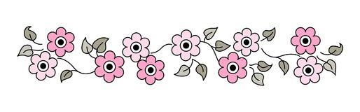 Línea/divisor de las flores Imagenes de archivo