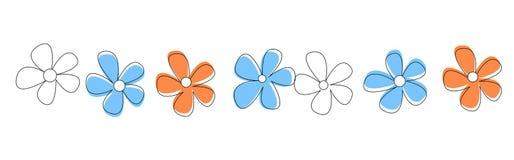 Línea/divisor de las flores Fotos de archivo libres de regalías