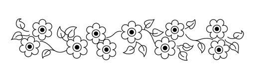 Línea/divisor de las flores ilustración del vector