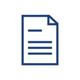 Línea documento del icono Imágenes de archivo libres de regalías