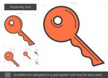 Línea dominante icono de la casa ilustración del vector