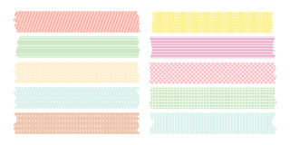 Línea dulce colección de la cinta adhesiva del modelo Imagen de archivo libre de regalías