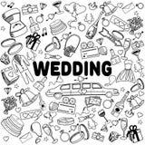 Línea ejemplo de la boda del vector del diseño del arte Fotografía de archivo libre de regalías