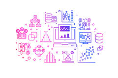 Línea ejemplo de la pendiente del análisis de datos de los iconos libre illustration