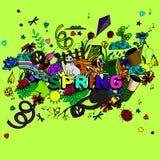 Línea ejemplo de la primavera del vector del diseño del arte Imágenes de archivo libres de regalías