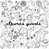 Línea ejemplo de las mercancías del deporte del vector del diseño del arte Fotos de archivo