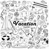Línea ejemplo de las vacaciones del vector del diseño del arte Imagen de archivo