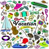 Línea ejemplo de las vacaciones del vector del diseño del arte Foto de archivo