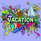 Línea ejemplo de las vacaciones del vector del diseño del arte Fotografía de archivo