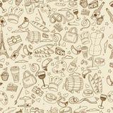Línea ejemplo de París del vector del diseño del arte Foto de archivo libre de regalías