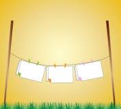 Línea ejemplo de ropa Foto de archivo libre de regalías