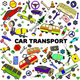 Línea ejemplo de transporte del coche del vector del diseño del arte Fotos de archivo libres de regalías