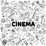 Línea ejemplo del cine del vector del diseño del arte Foto de archivo