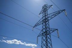 Línea eléctrica foto de archivo