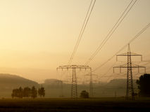 Línea eléctrica Foto de archivo libre de regalías