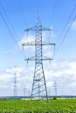 Línea eléctrica Fotografía de archivo