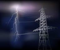 Línea eléctrica Stock de ilustración