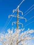 Línea eléctrica Fotografía de archivo libre de regalías