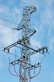 Línea eléctrica de alto voltaje Foto de archivo libre de regalías