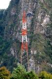 Línea eléctrica de alto voltaje Imagen de archivo libre de regalías