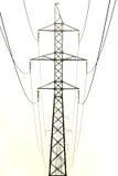 Línea eléctrica de la torre Fotografía de archivo libre de regalías