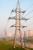 Línea eléctrica de la torre Imagen de archivo
