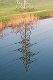 Línea eléctrica de la torre Foto de archivo libre de regalías