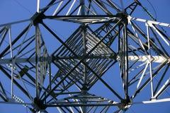 Línea eléctrica, detallada foto de archivo
