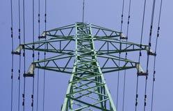 Línea eléctrica eléctrica Imagen de archivo