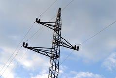 Línea eléctrica eléctrica Imagen de archivo libre de regalías